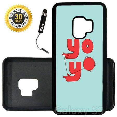 Custom Galaxy S9 Case (Yo- Yo Hands) Edge-to-Edge Rubber Black Cover Ultra Slim | Lightweight | Includes Stylus Pen by - Custom Yoyo