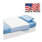 """Platinum Care PadsTM Saddle Style Soaker Mattress Pad - Will Absorb 8 Cups of Liquid - Made in America (34"""" X 36"""") - Green"""