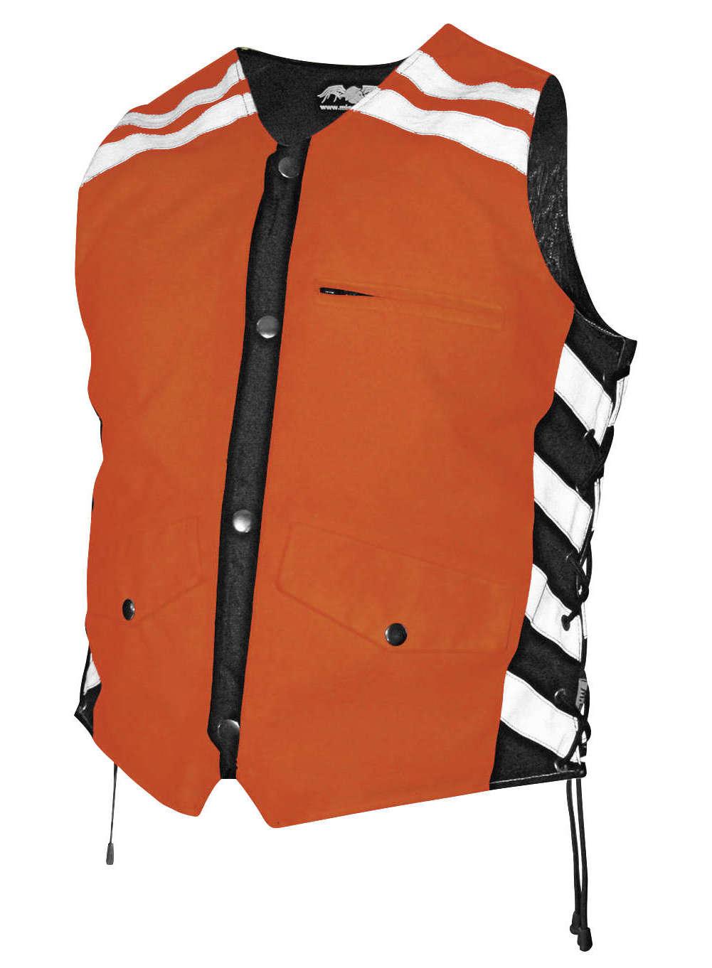 Missing Link G2 D.O.C. Reversible Leather Safety Vest by Missing Link