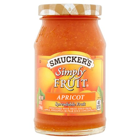 (3 Pack) Smucker's Simply Apricot Spread, -