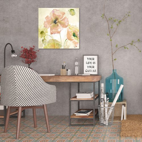 Ophelia & Co. 'Watercolor Blush and Gold III' Print on Wrapped Canvas
