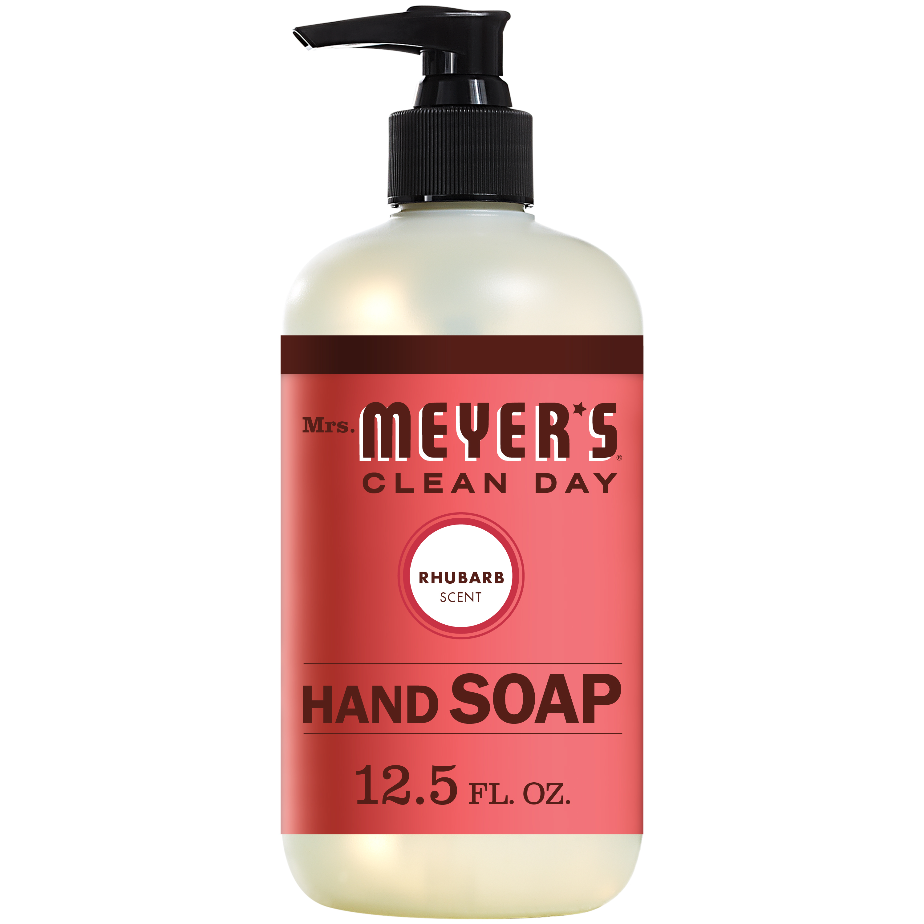 (3 Pack) Mrs. Meyer´s Clean Day Liquid Hand Soap, Rhubarb, 12.5 Oz