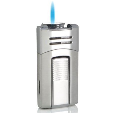 Visol Caseti Corinth Chrome Single Torch Flame Cigar Lighter