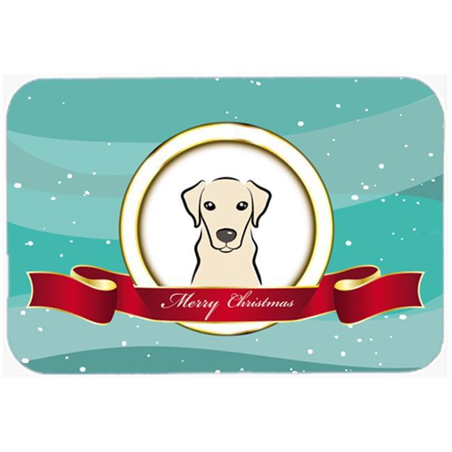 Carolines Treasures BB1532LCB Yellow Labrador Merry Christmas Glass Cutting Board, Large - image 1 of 1