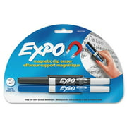 Expo Magnetic Clip Eraser with Markers, Assorted, 3 / Set (Quantity)