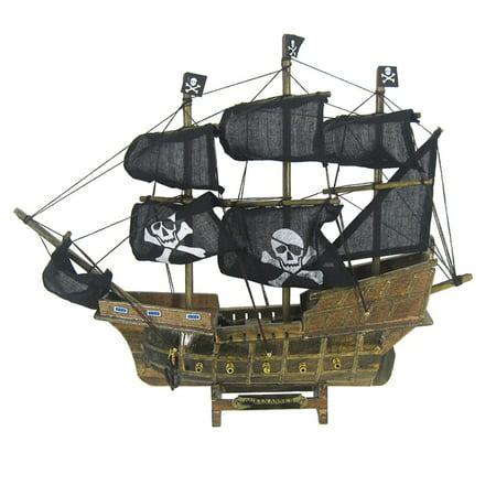 Pirate Boat Cardboard (Pirate Ship Wood 13 X 13 Nautical Maritime Boat)