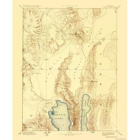 Old Topographical Map Print   Granite Range Nevada   Usgs 1894   23 X 27 99