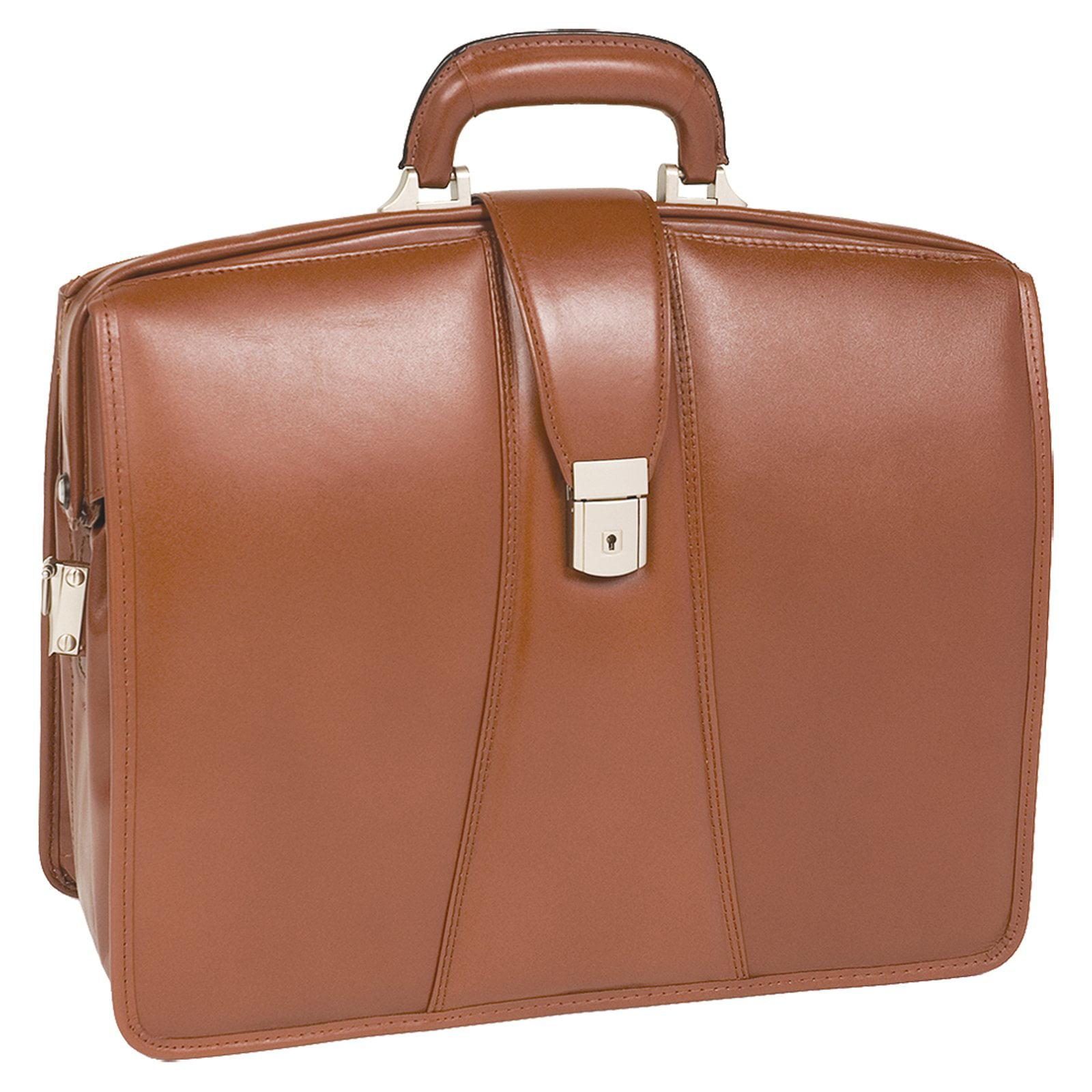 McKlein USA Harrison Leather Laptop Briefcase - Brown