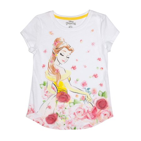 Belle 3D Chiffon Flowers Graphic T-Shirt (Little Girls & Big Girls)
