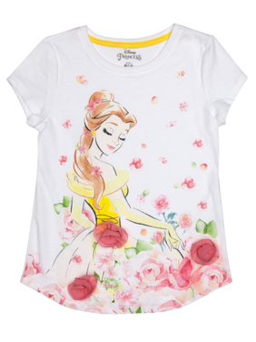 ad627f356 Product Image Belle 3D Chiffon Flowers Graphic T-Shirt (Little Girls & Big  Girls). Product TitleDisney PrincessBelle ...