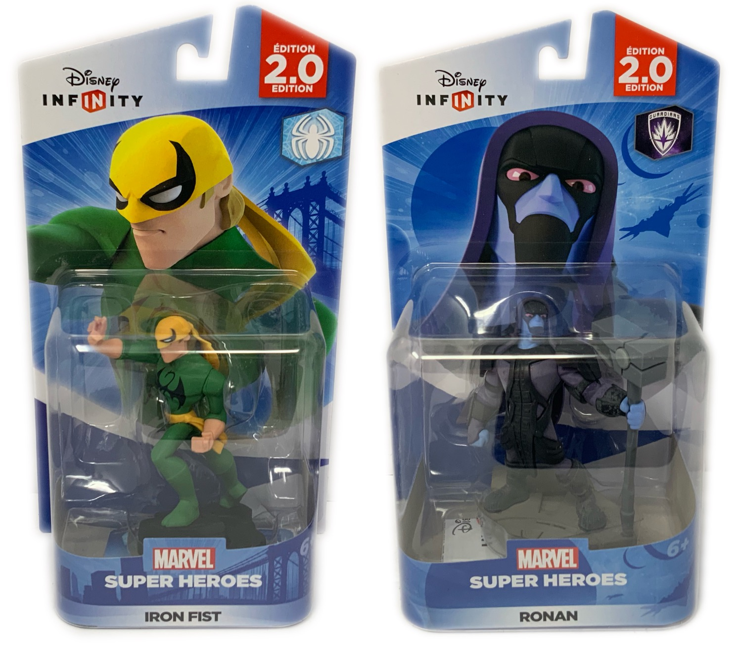 Disney Infinity IronFist & Ronan Figures 2.0 Series Guardians Of The Galaxy & Spiderman Series (Not Machine... by