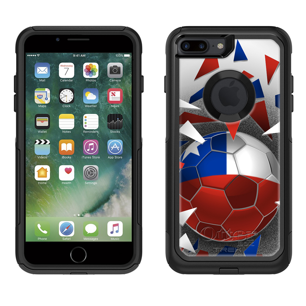 Otterbox Commuter Apple iPhone 7 Plus Case - Soccer Ball Chile Apple iPhone 7 Plus OtterBox Case