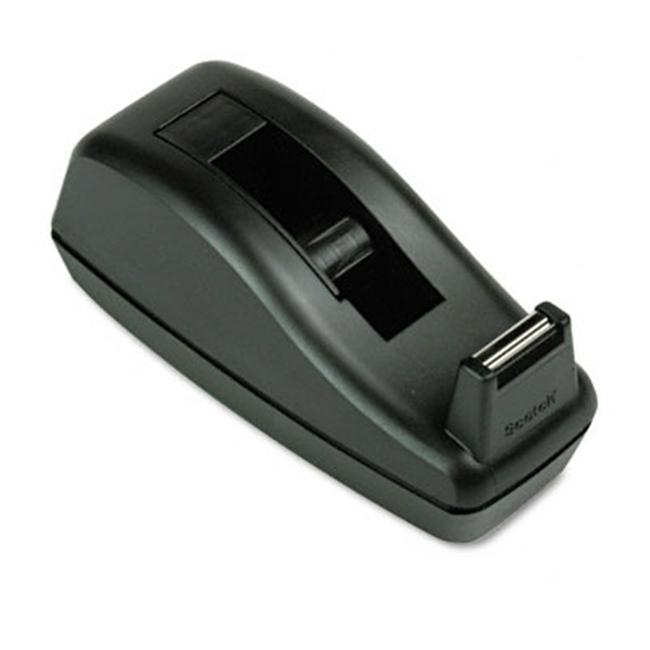 Deluxe Desktop Tape Dispenser  Attached 1 in.core  Heavily Weighted  Black - image 1 de 1