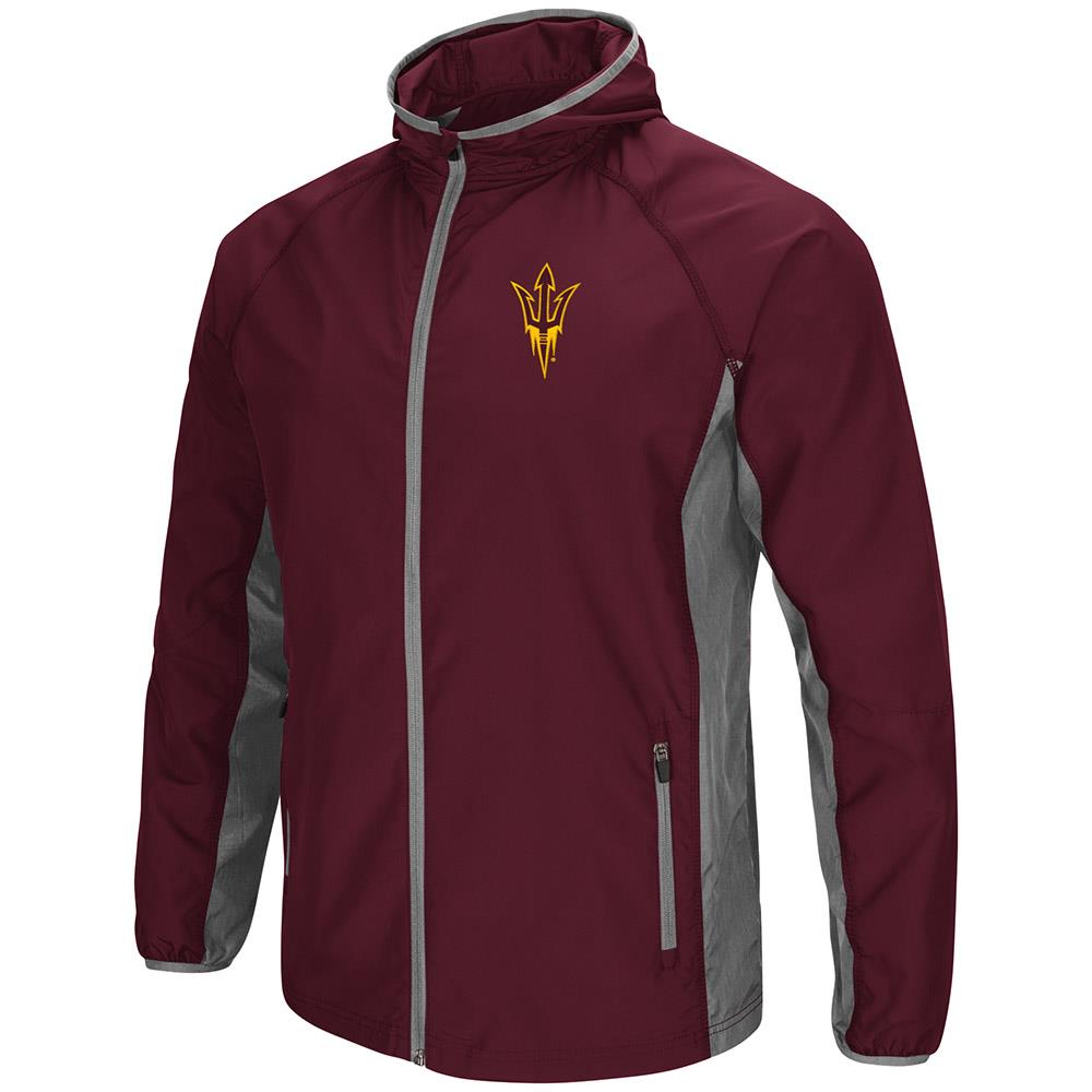 Mens Arizona State Sun Devils Full Zip Hooded Jacket by Colosseum