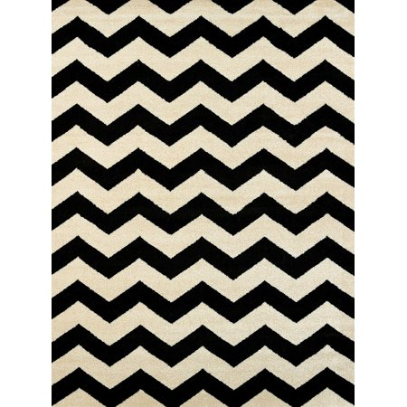 United Weavers Visions Area Rugs   970 20070 Contemporary Black Chevron Multicolored Lines Waves Rug
