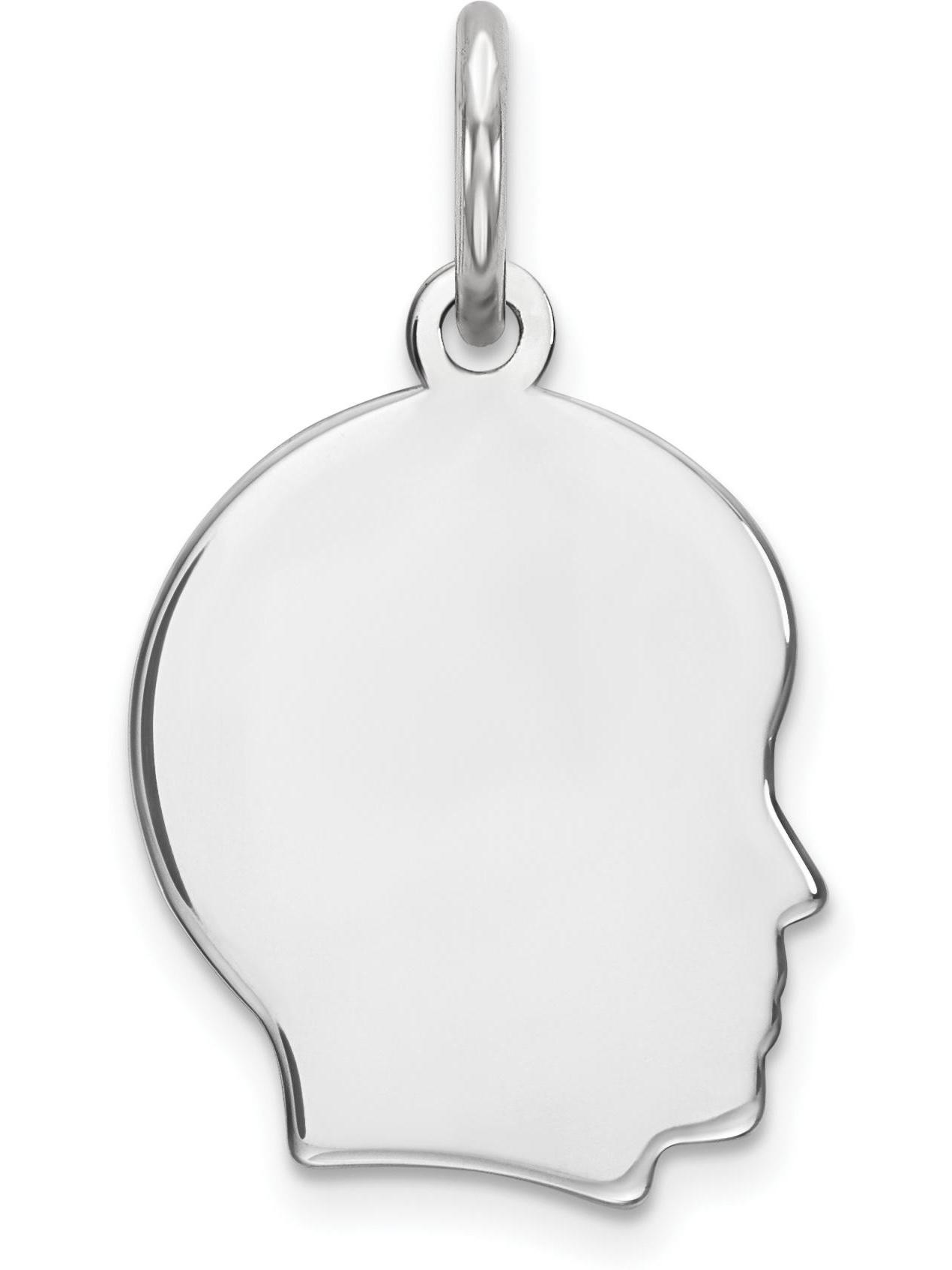 "Sterling Silver Girl Charm 0.018"" 10mm"