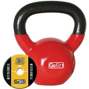 GoFit 15-lb Premium Kettlebell with Training DVD