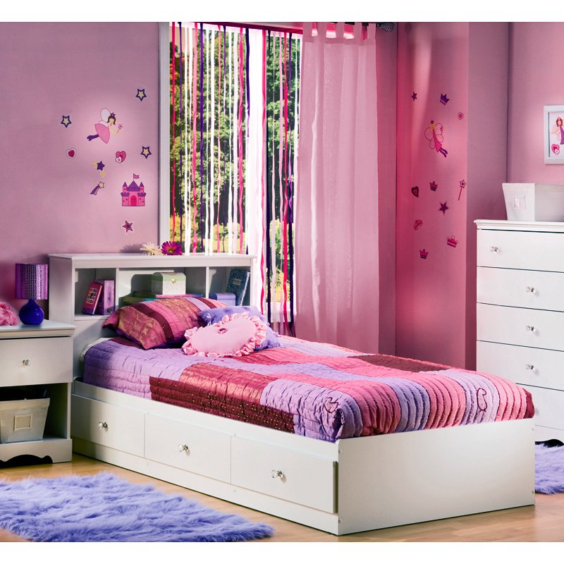 South Shore Crystal Twin Bookcase Bed Collection