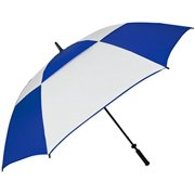 "haas-jordan 8708 68"" double canopy hurricane golf umbrella, royal/white"