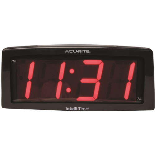 "AcuRite 7"" Jumbo Intelli-Time Digital Alarm Clock"