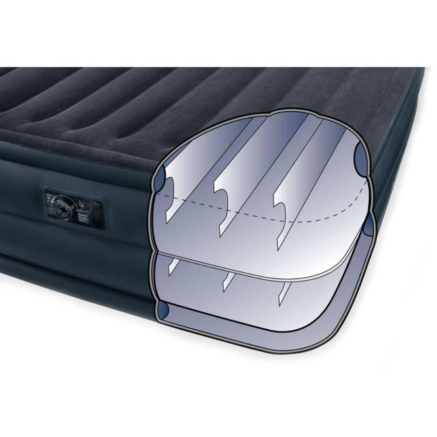 "Intex Queen 22"" Raised Downy Airbed Mattress with Built-in Electric Pump -  Walmart.com"