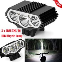matoen 12000 Lm 3 x XML T6 LED 3 Modes Bicycle Lamp Bike Light Headlight Cycling Torch