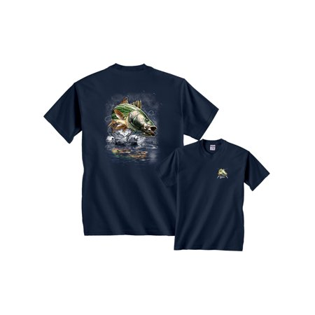 Jumping Striped Bass Fishing T-Shirt (Saul Bass The Man With The Golden Arm)