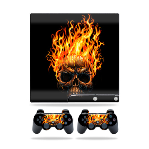 Skin Decal for Sony Playstation 3 PS3 Slim + 2 controllers sticker Hot Head