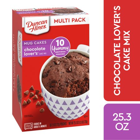 Duncan Hines Perfect Size for 1 Chocolate Lovers Cake Multipack 10 ct Chocolate Bundt Cake Mix