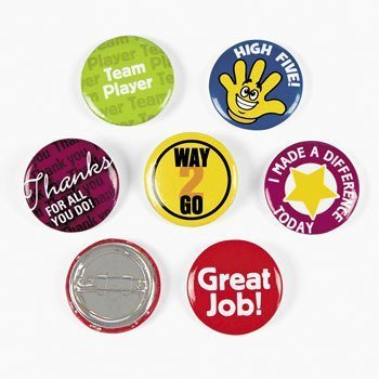 Recognition Mini Buttons - Awards & Incentives & Novelty