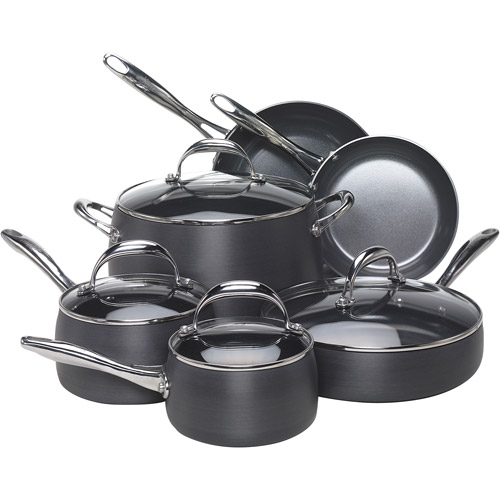 Earth Pan 10-Piece Hard Anodized Non-Stick Cookware Set