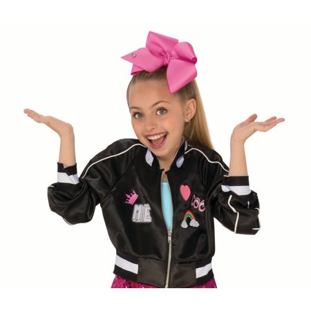 Cruella Deville Coat (Rubies Costume Company Jojo Siwa Bomber Jacket and Bow Set)