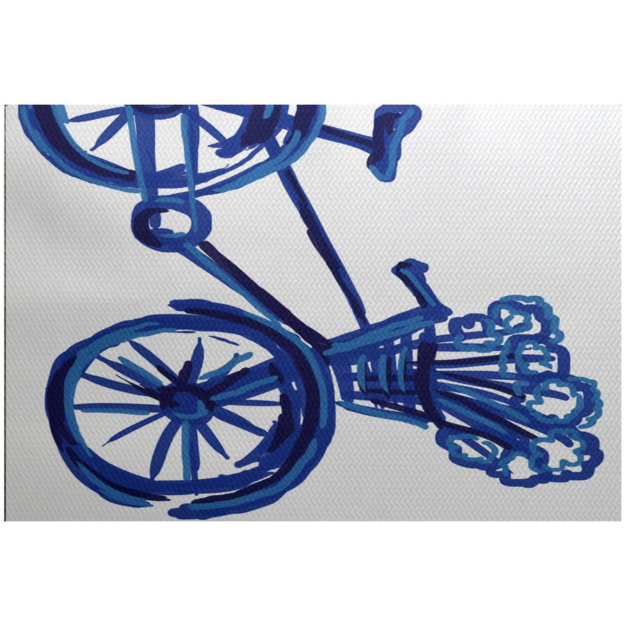 Simply Daisy 3' x 5' La Bicicleta Geometric Print Indoor Rug