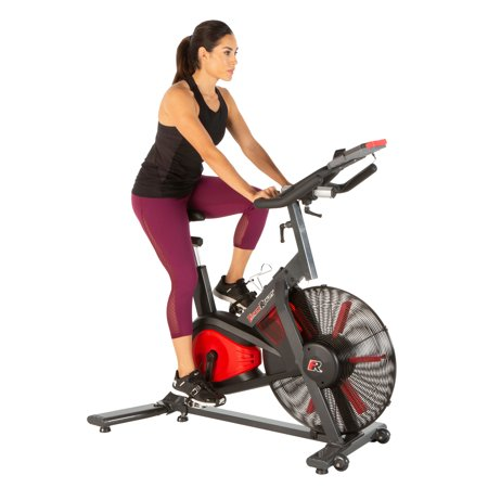 FITNESS REALITY X-Class 9000 Bluetooth Air Resistance HIIT Exercise Fan Bike with Free App