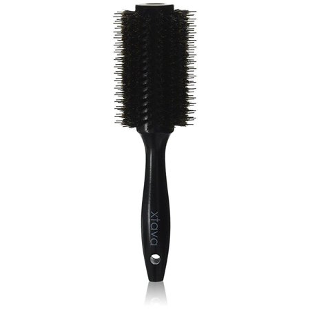 xtava 22mm double bristle body brush - pro volume salon round brush for blow drying with natural boar bristle and nylon - small volumizing round hair brush best for major (Best Hair Salon In Reading)