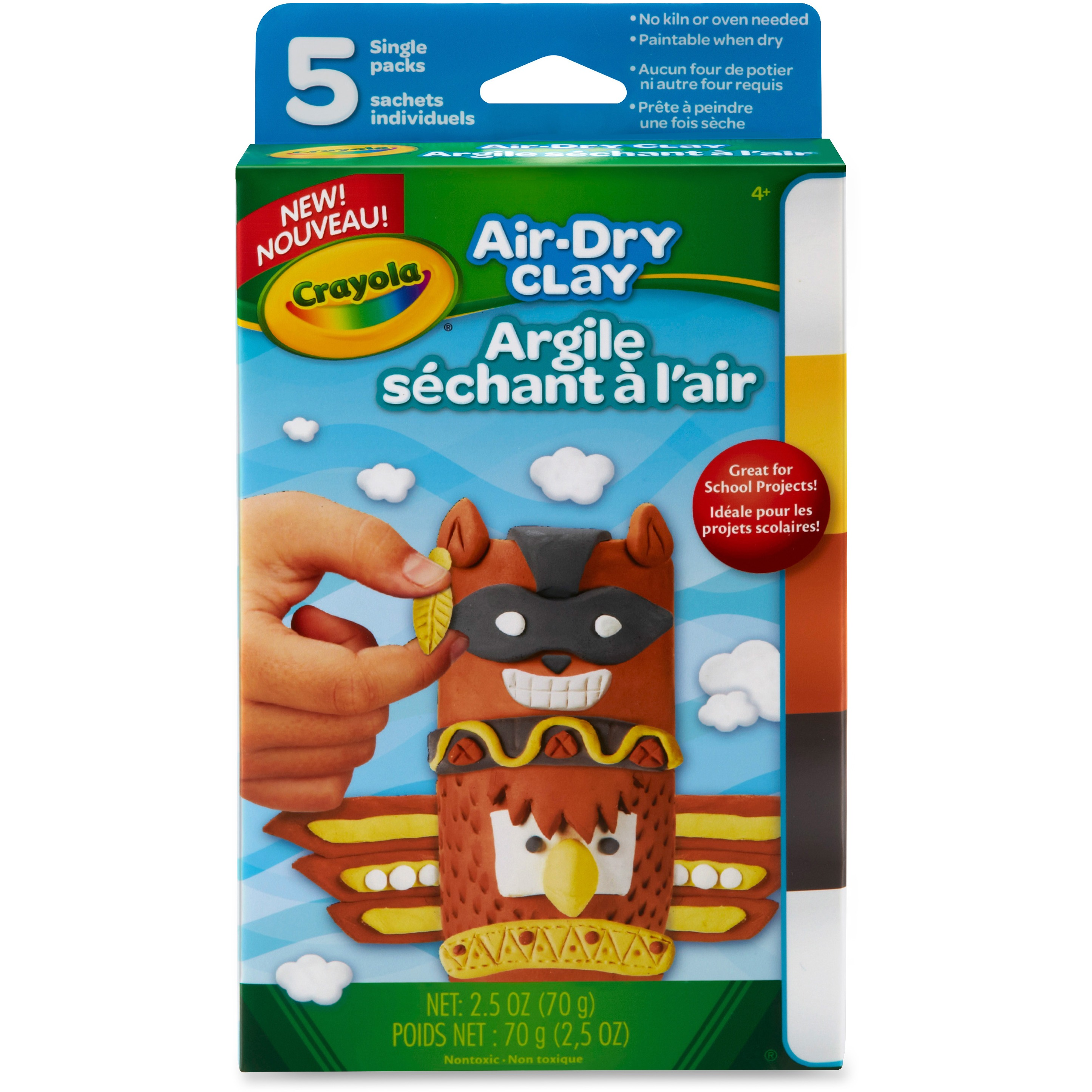 Crayola Air-Dry Clay Variety Pack, 4 Neutral Colors
