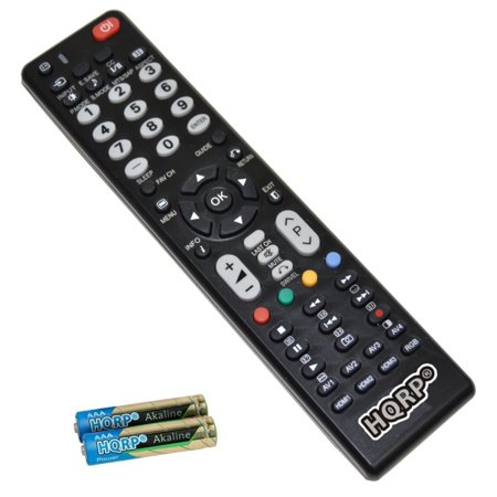 HQRP Remote Control for Hitachi 42HDF52 42HDM12 42HDM70 42HDS69 42HDT51 LCD LED HD TV Smart 1080p 3D Ultra 4K Plasma + HQRP Coaster