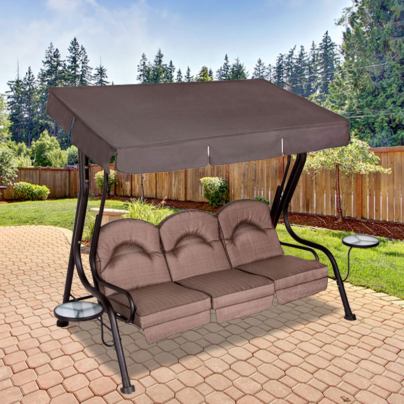 Garden Winds Replacement Canopy Top for Ace Deluxe 3 Person Swing - BROWN