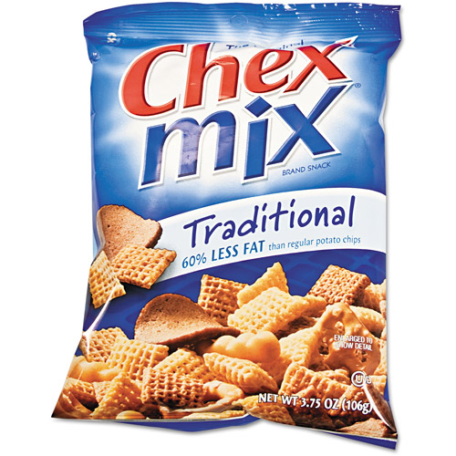 Chex Mix Traditional Flavor Trail Mix, 3.75 oz, 8ct
