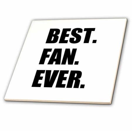 3dRose Best Fan Ever - funny gift for super fans - humorous superfan humor - Ceramic Tile,