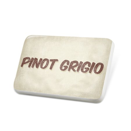 Porcelein Pin Pinot Grigio Wine, Vintage style Lapel Badge – NEONBLOND
