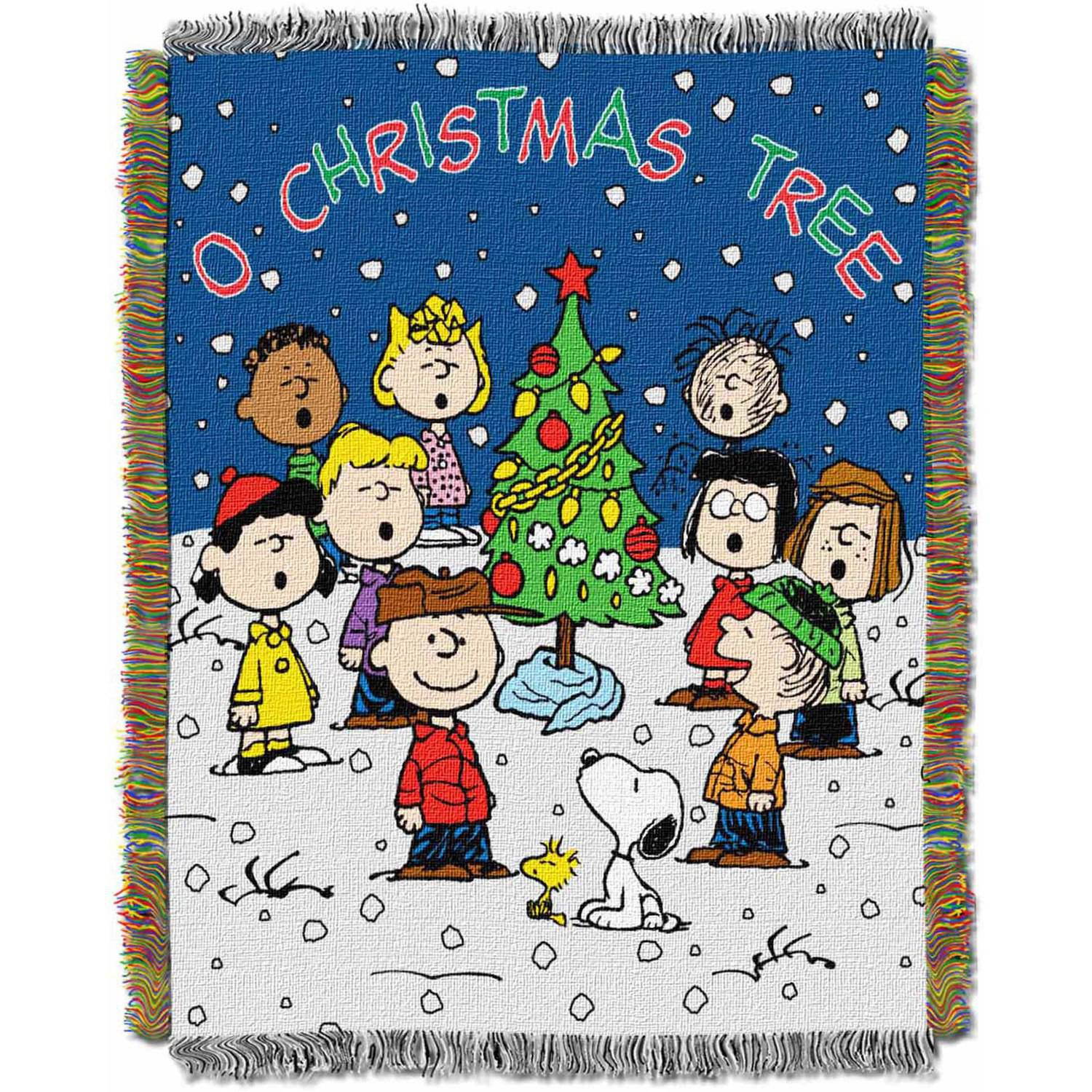 "Peanuts ""Charlie Brown Christmas"" 19"" x 19"" Woven Tapestry Throw ..."