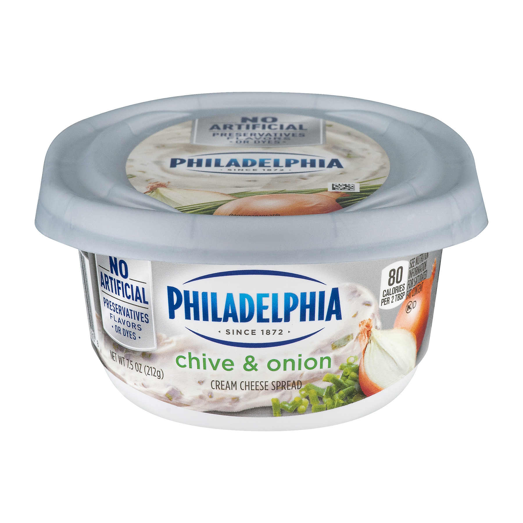 Philadelphia Cream Cheese Spread Chive & Onion, 7.5 OZ