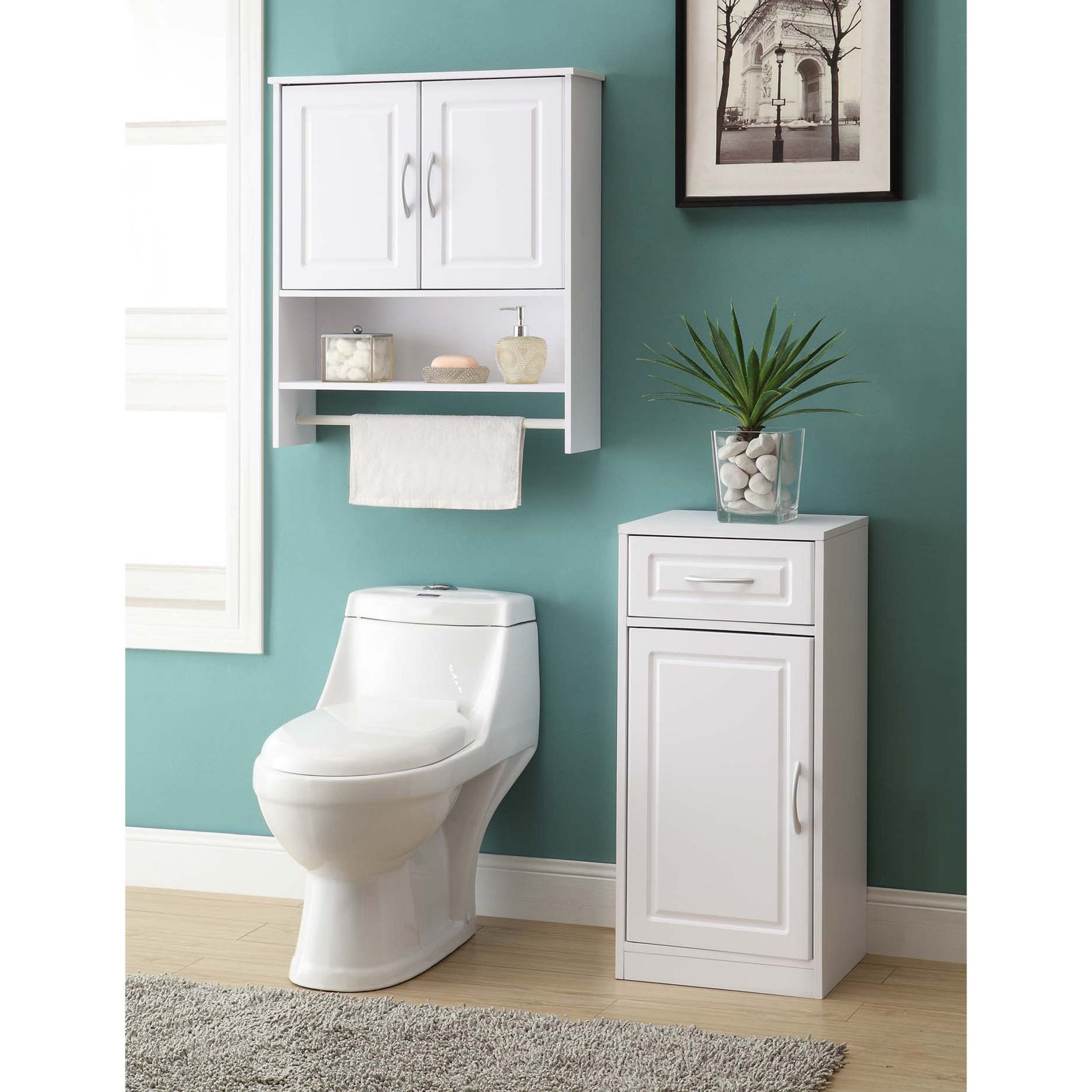 4D Concepts White Bathroom Base Cabinet with One Door - Walmart.com