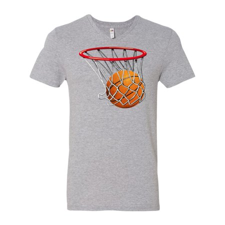 Basketball Swish Men's V-Neck T-Shirt