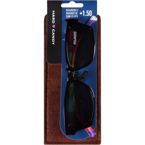 Hard Candy Readers with Magnetic Sun Clips, Lucky Rainbow -- Dark Tortoiseshell, 3 count