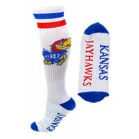 Kansas Jayhawks White Tube Sock