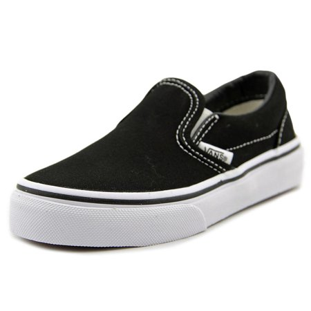 d17145d5a VANS - Vans Classic Slip-On Round Toe Canvas Sneakers - Walmart.com