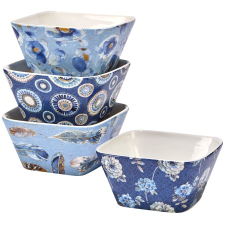 Indigold Set/4 Ice Cream Bowl (patterns) 5.25