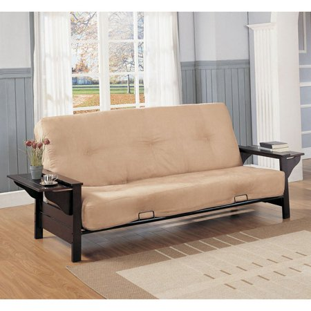 Melbourne Wood Metal Futon Frame With Extendable Tray Full Size